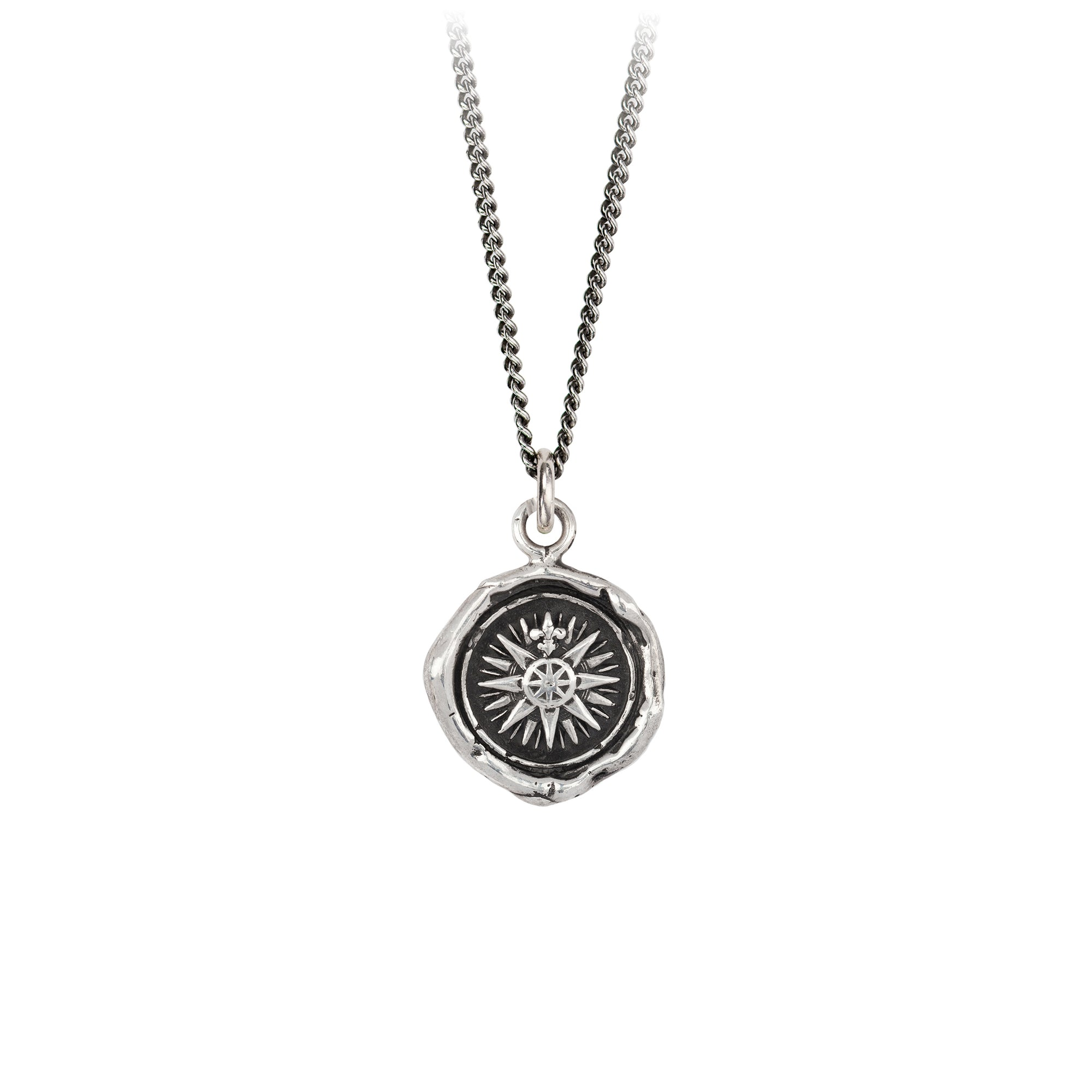 Pyrrha Direction Signature Talisman Necklace Silver