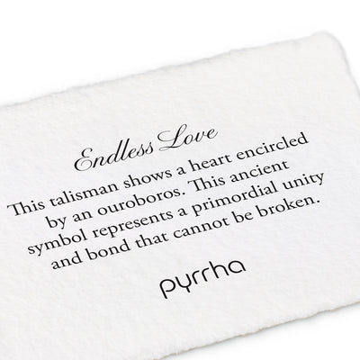 14k endless love talisman - pyrrha - 1