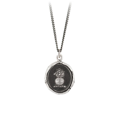 Pyrrha Explorer Signature Talisman Necklace Silver