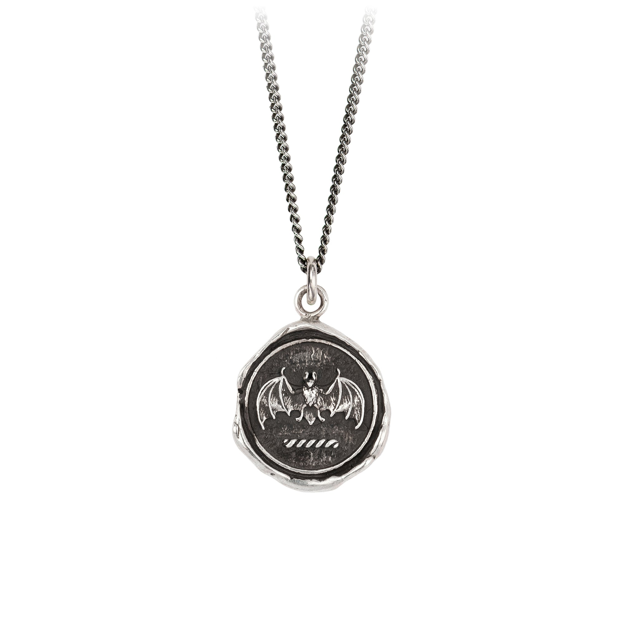 Pyrrha Face Your Fears Signature Talisman Necklace Silver