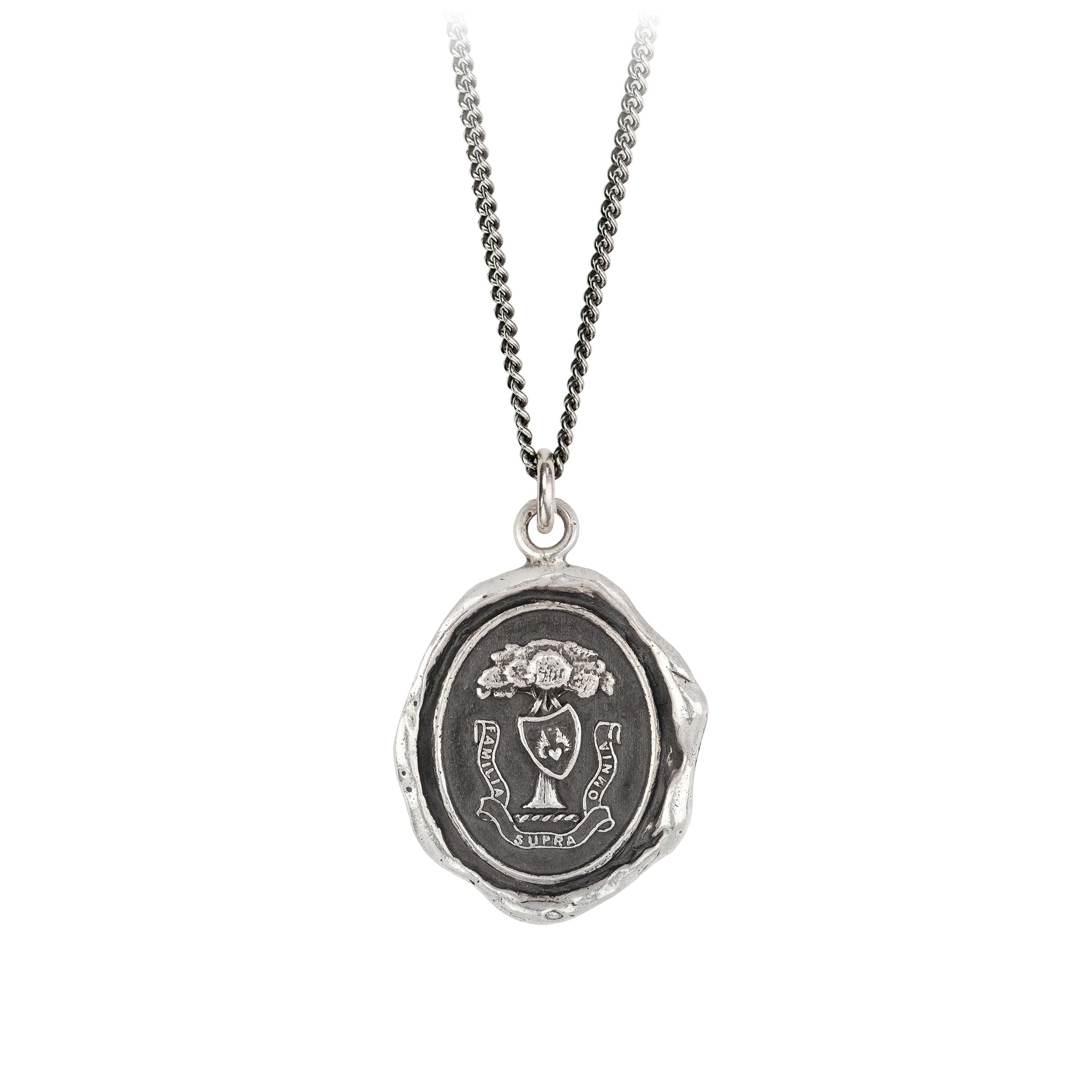 Pyrrha Family Above All Talisman Necklace Silver
