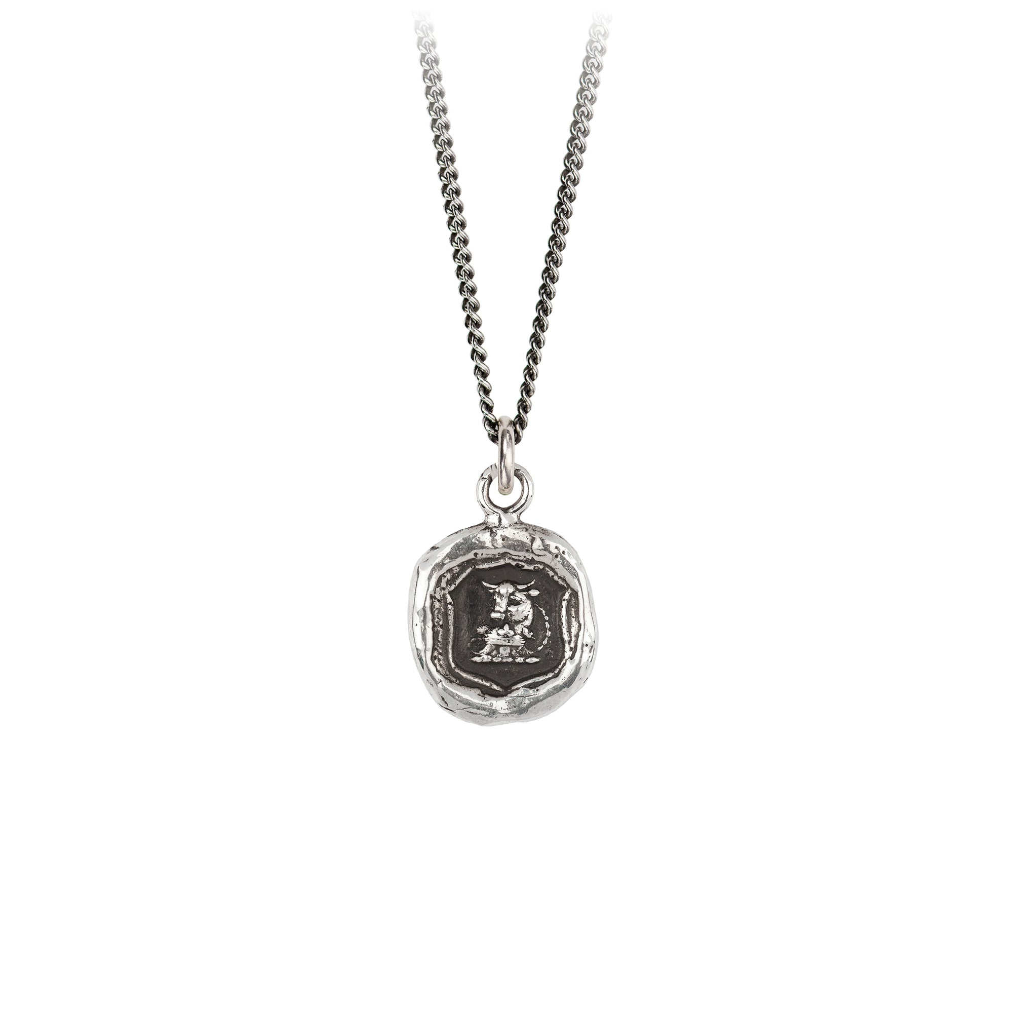 Pyrrha Fatherhood Talisman Necklace Silver