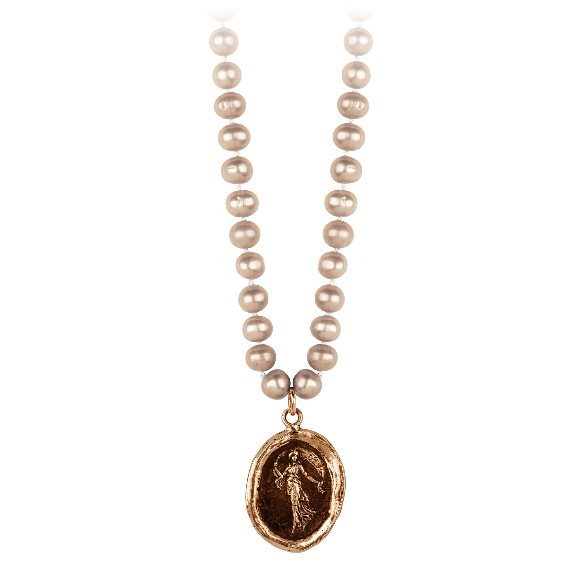 Pyrrha Festive Spirit Champagne Knotted Freshwater Pearl Necklace