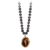 Pyrrha Festive Spirit Peacock Black Knotted Freshwater Pearl Necklace