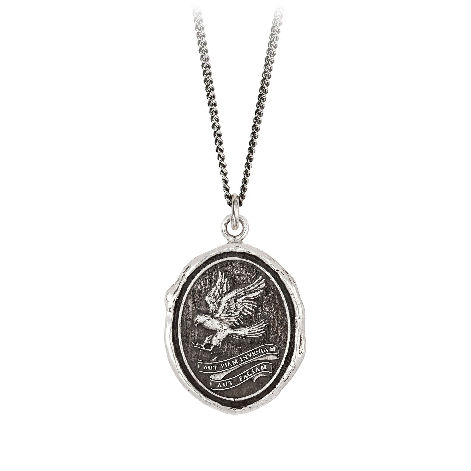 Pyrrha Find A Way Talisman Necklace Silver