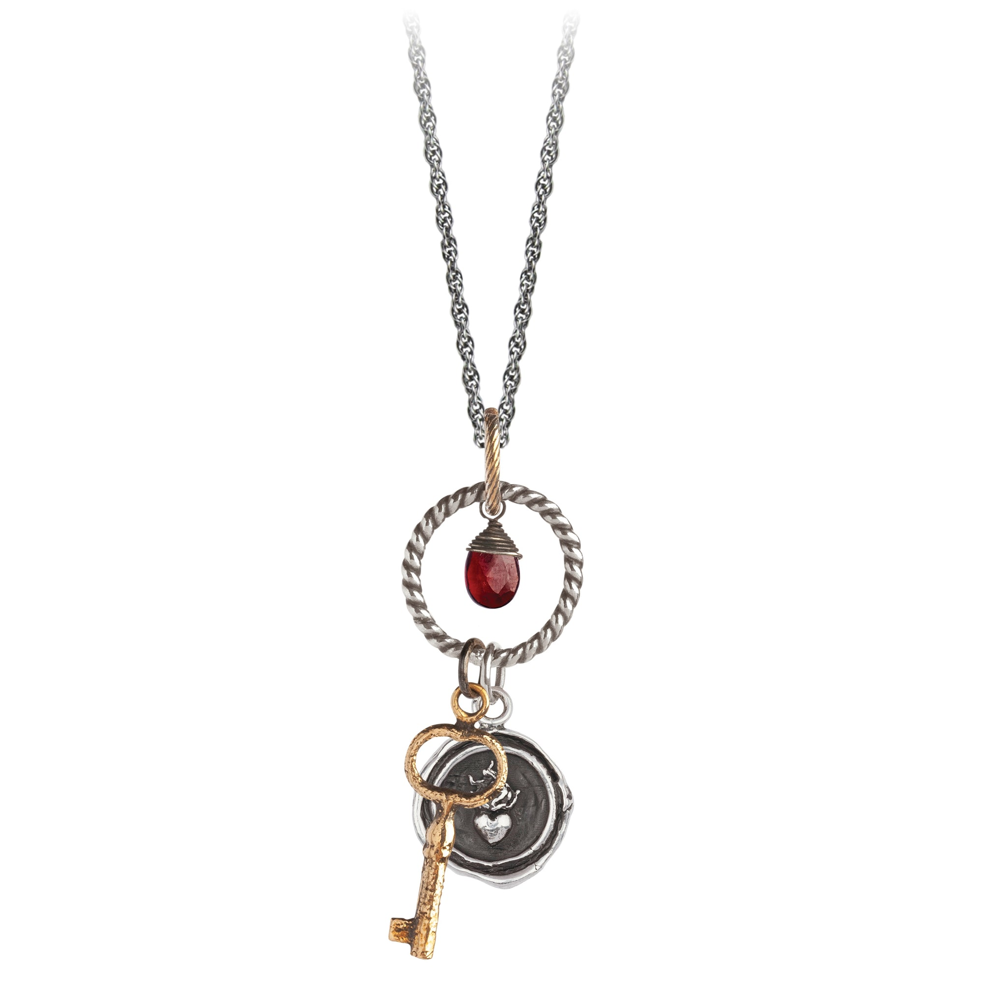 Pyrrha Flaming Heart Eternal Necklace