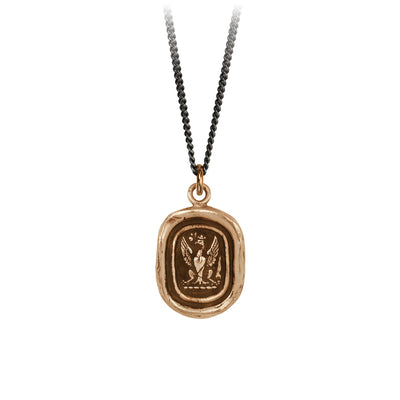 Pyrrha Follow Your Dreams Talisman Necklace Bronze