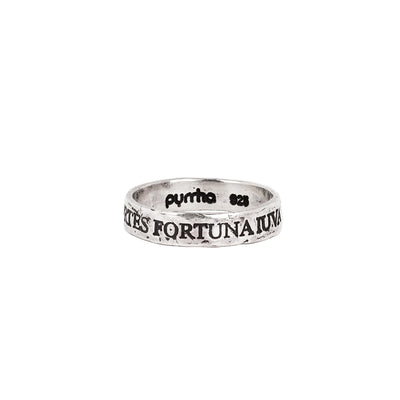 Fortes Fortuna Iuvat Latin Motto Band Ring