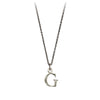 Pyrrha Letter G Initial Charm Necklace Silver