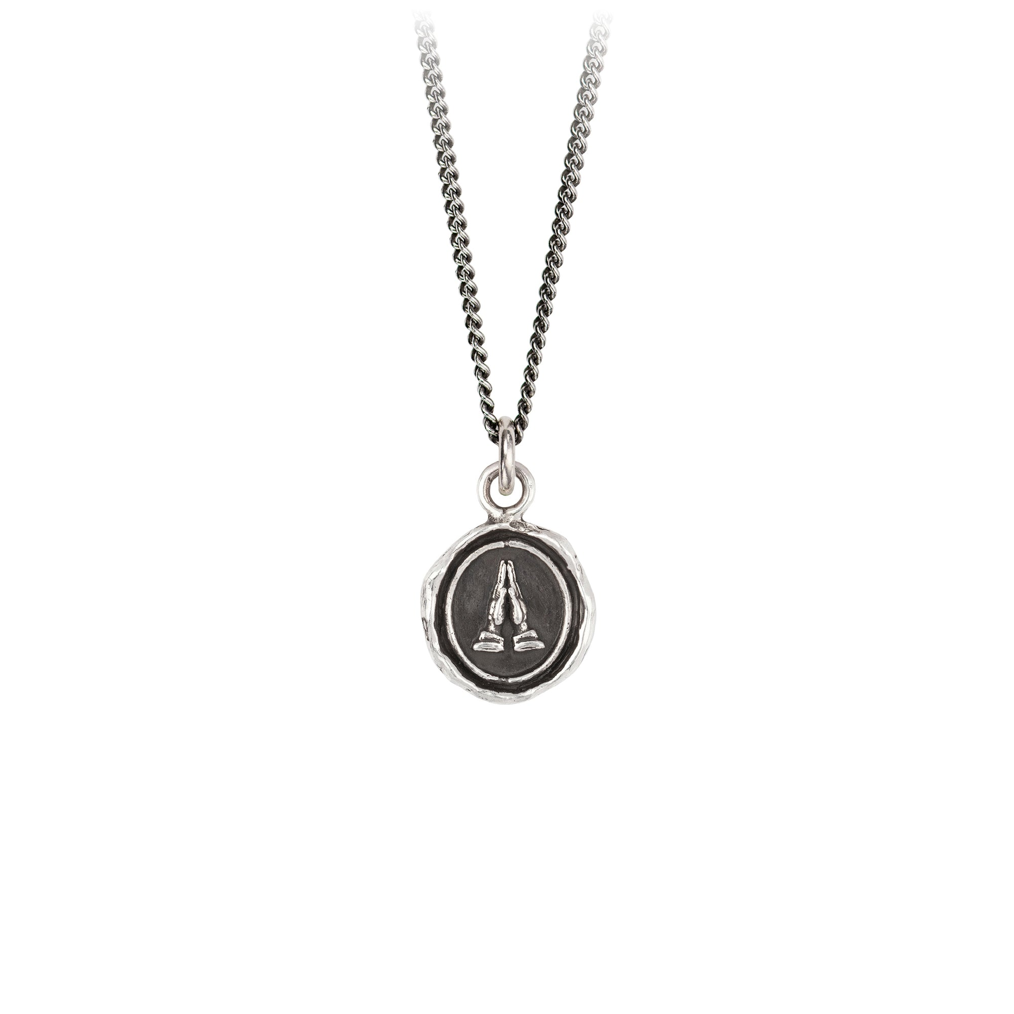 Pyrrha Grateful Appreciation Talisman Necklace Silver