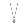 Pyrrha Heart Lock Symbol Charm Necklace Silver