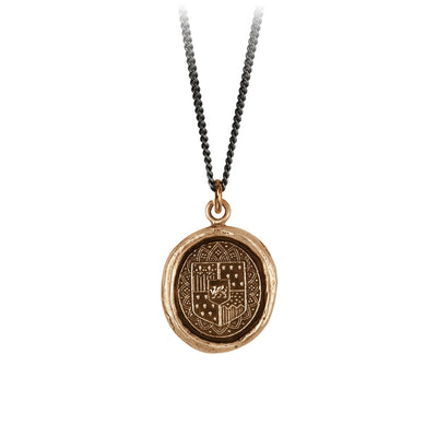 Pyrrha Heart of Courage Talisman Necklace Bronze