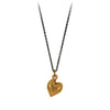 Pyrrha Heart Symbol Charm Necklace Bronze