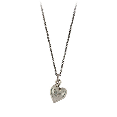 Pyrrha Heart Symbol Charm Necklace Silver