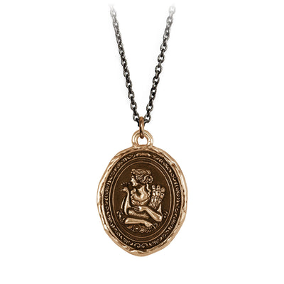 Pyrrha Hera Goddess Talisman Necklace Bronze