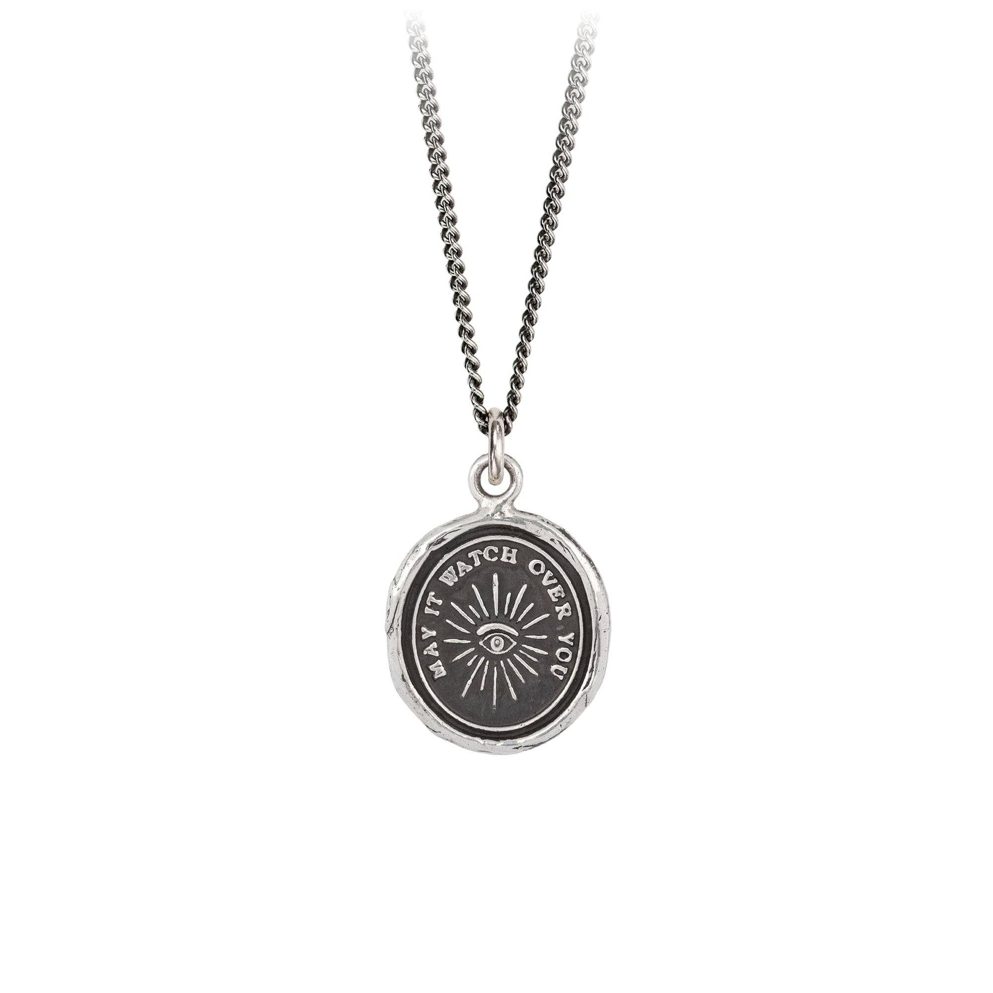 Pyrrha Higher Power Talisman Necklace Silver