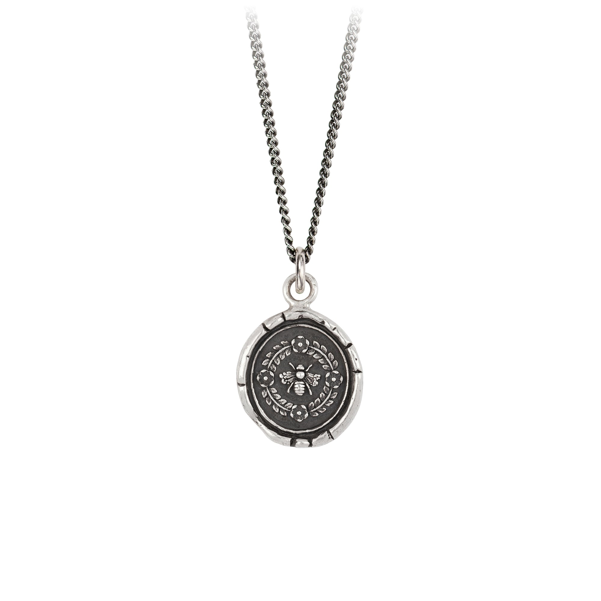 Pyrrha Honeybee Talisman Necklace Silver