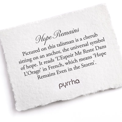 Pyrrha Hope Remains Meaning Card