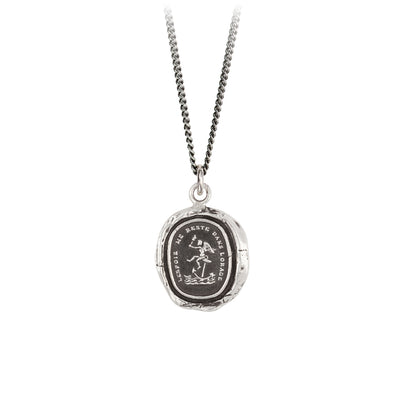 Pyrrha Hope Remains Talisman Necklace Silver