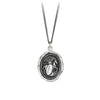 Pyrrha Horse Engravable Talisman Necklace Fine Curb Chain Silver
