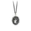 Pyrrha Horse Engravable Talisman Necklace Medium Curb Chain Silver