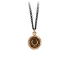 Pyrrha Horseshoe Talisman Necklace Bronze