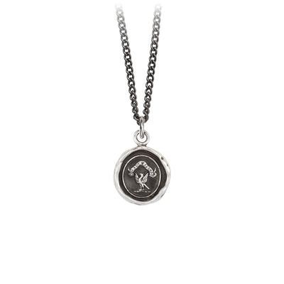Pyrrha I See A Way Talisman Necklace Silver