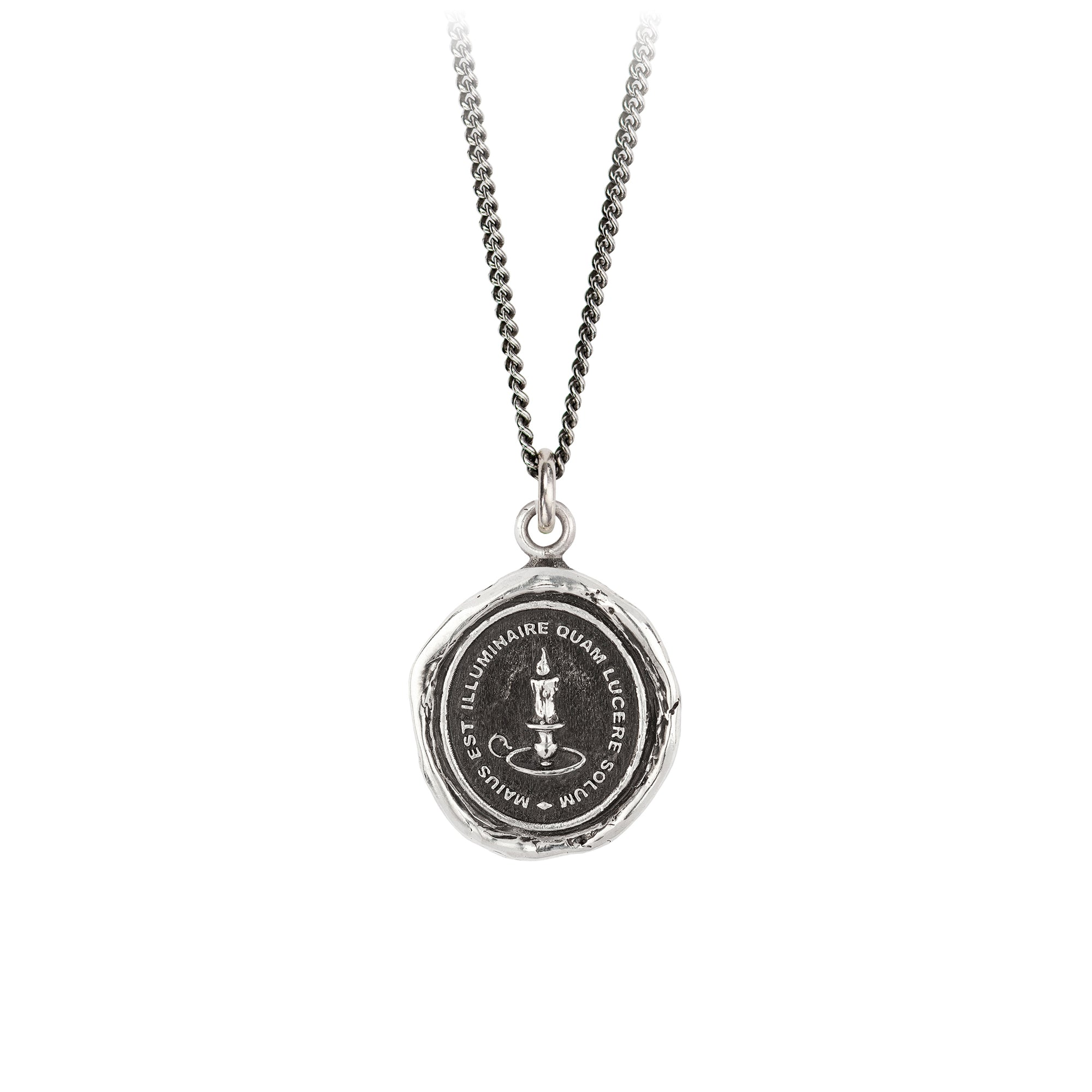 Pyrrha Illuminate Talisman Necklace Silver