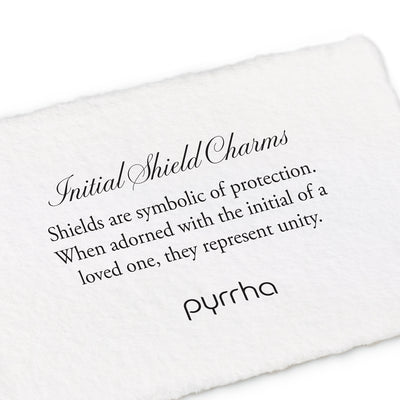 Medium Initial P Shield Charm - Pyrrha - 2