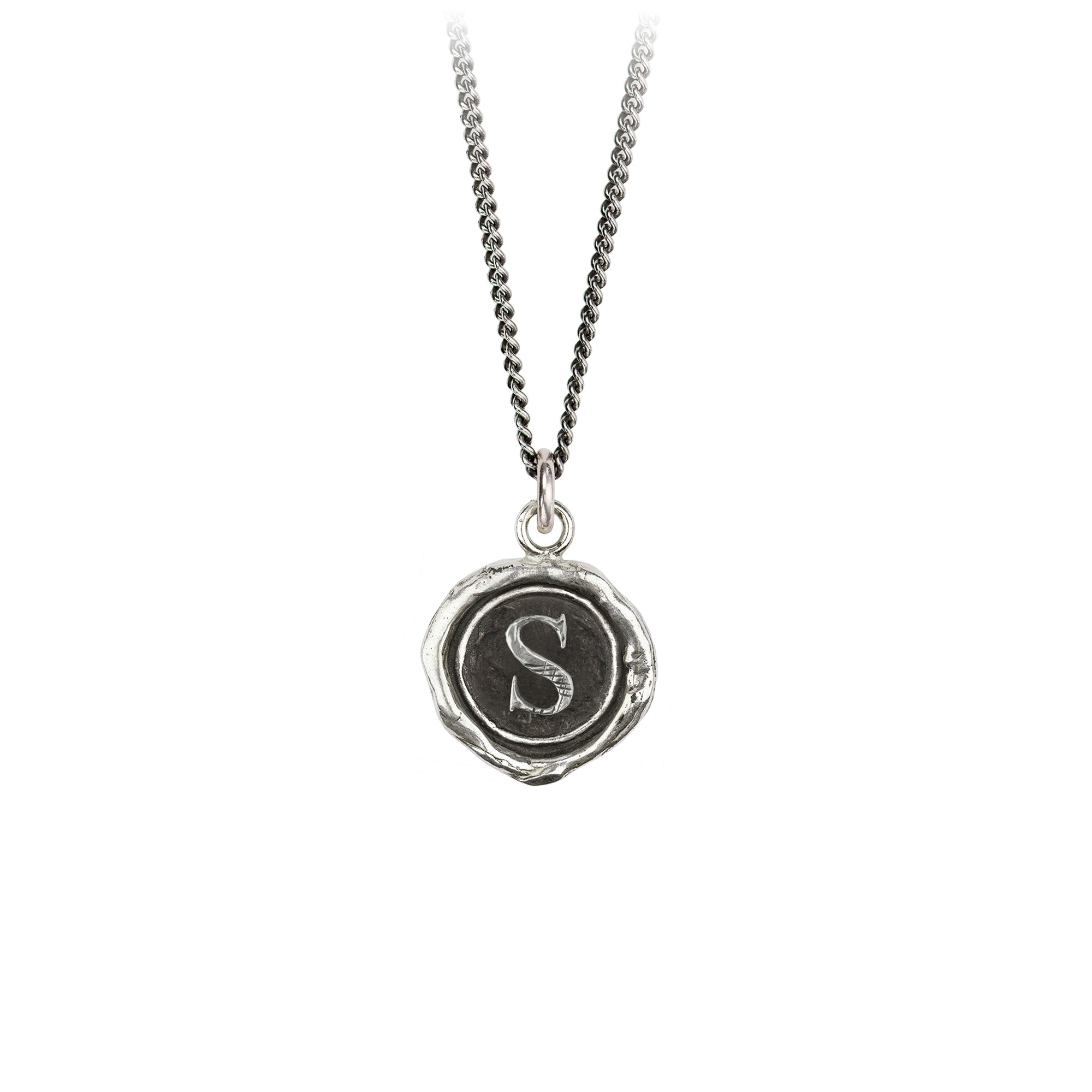 Pyrrha Initial S Talisman Necklace Silver