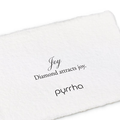 tiny diamond 14k wire loop attraction charm - pyrrha - 1