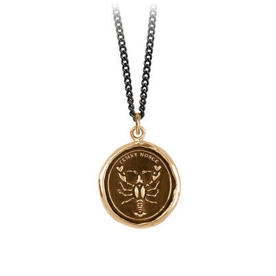 Pyrrha Know Thyself Talisman Necklace Bronze