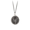 Pyrrha Know Thyself Talisman Necklace Silver