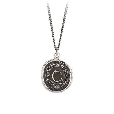 Pyrrha 14K Gold on Silver Knowledge Talisman Necklace