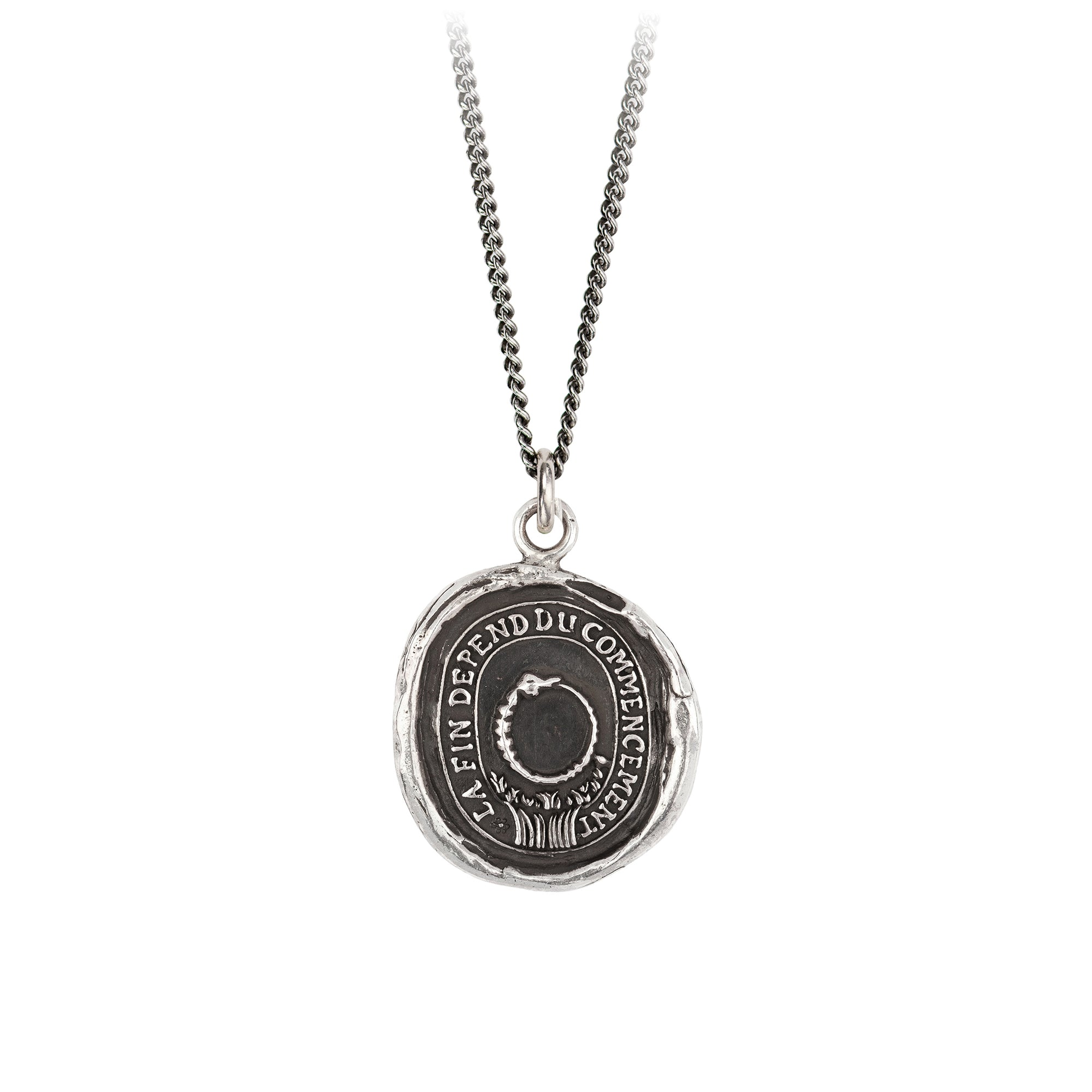 Pyrrha Knowledge Talisman Necklace Silver