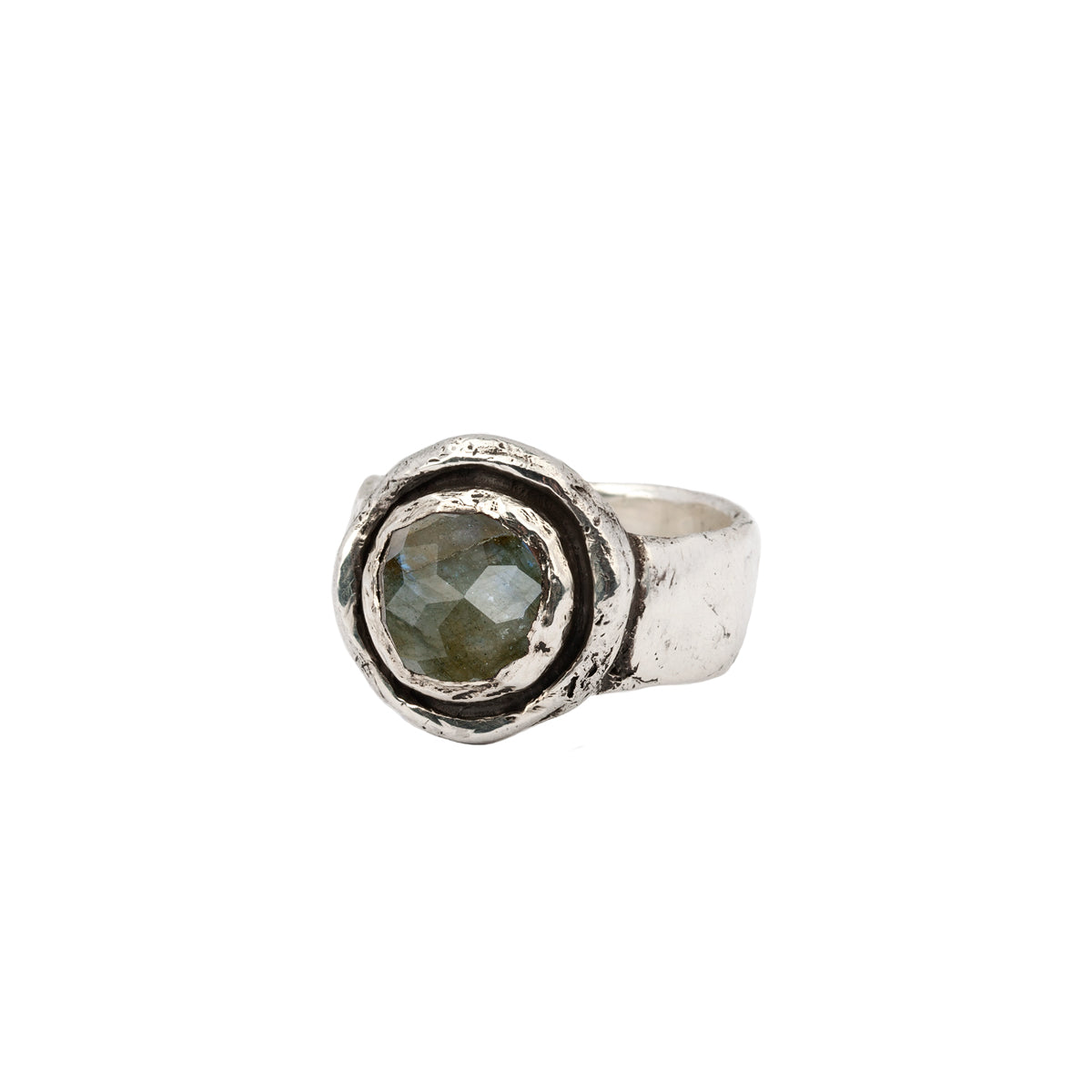 Labradorite Faceted Stone Talisman Ring