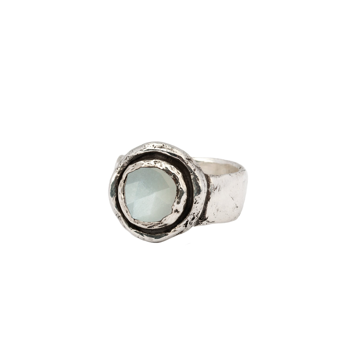 Moonstone Faceted Stone Talisman Ring