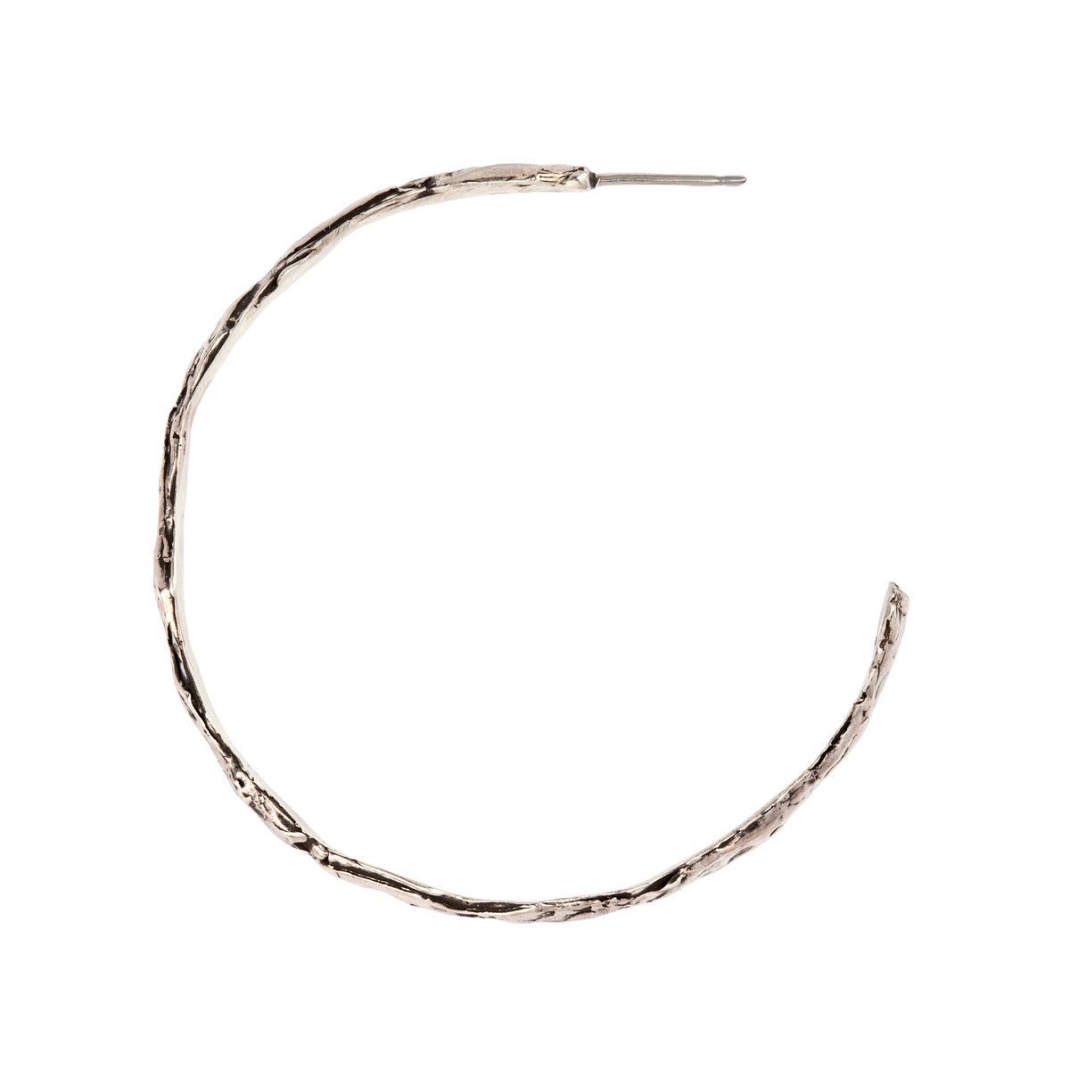 Large Textured Hoops - Pyrrha - 1