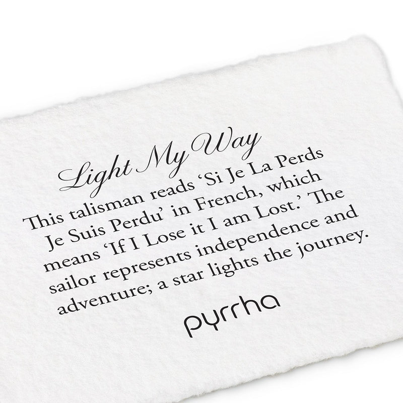 Pyrrha Light My Way Talisman Necklace Silver