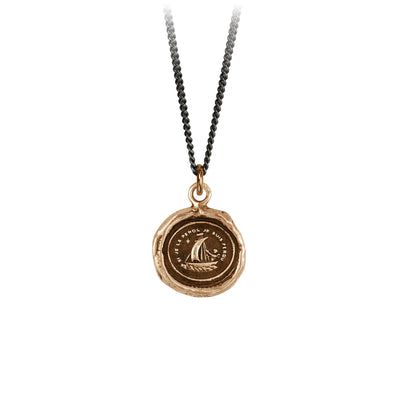 Pyrrha Light My Way Talisman Necklace Bronze