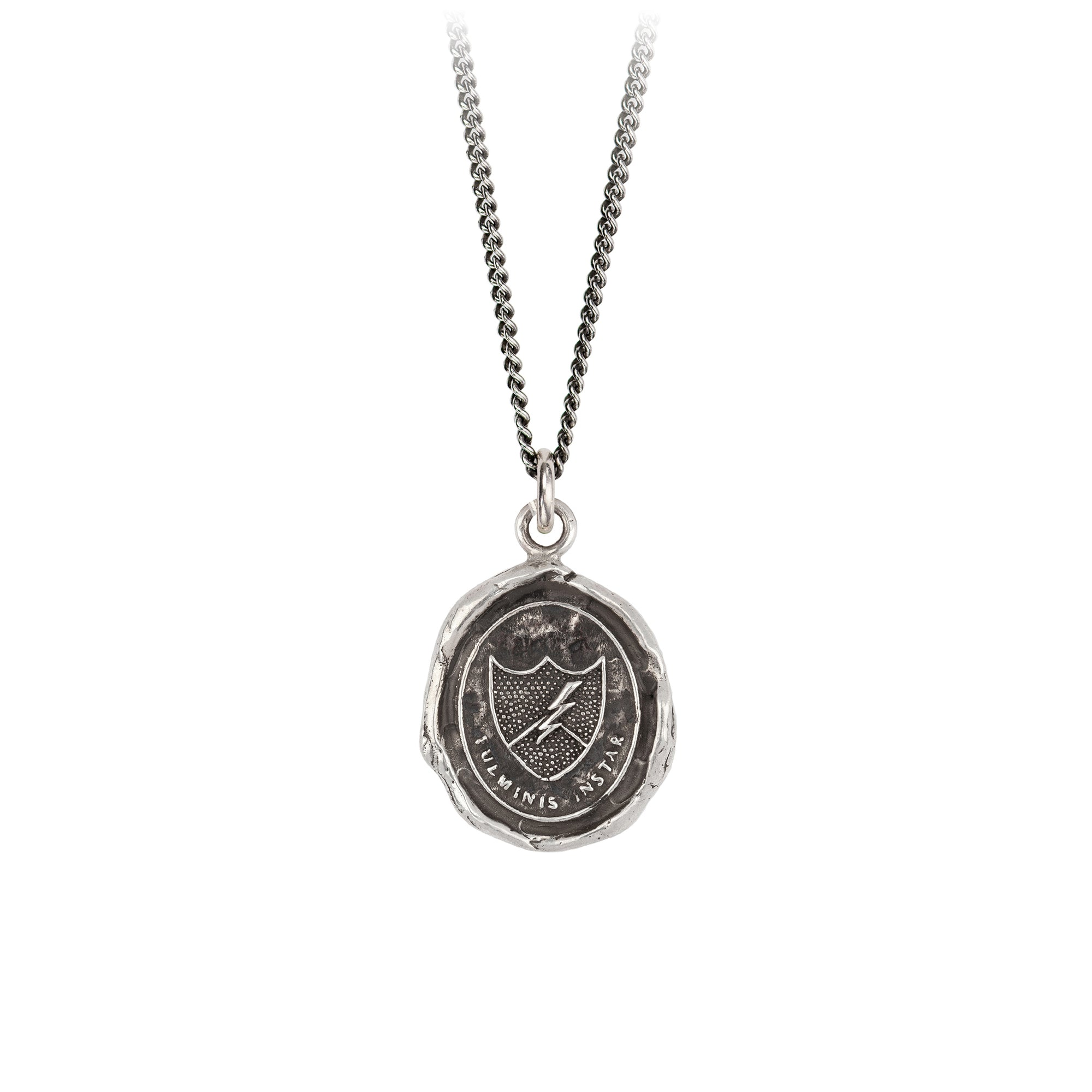 Pyrrha Like Lightning Talisman Necklace Silver