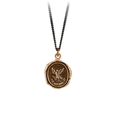 Pyrrha Limitless Talisman Necklace Fine Curb Chain Bronze