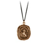 Pyrrha Live Your Truth Talisman Necklace Fine Curb Chain Bronze
