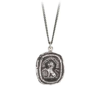 Pyrrha Live Your Truth Talisman Necklace Fine Curb Chain Silver