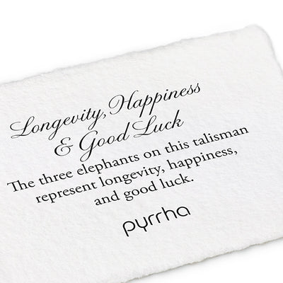 Longevity, Happiness & Good Luck Charm Holder Necklace - Pyrrha