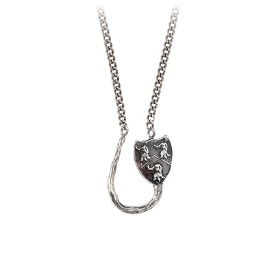 Pyrrha Longevity, Happiness and Good Luck Charm Holder Necklace Silver
