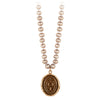 Pyrrha Longevity, Happiness and Good Luck Champagne Knotted Freshwater Pearl Necklace