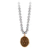Pyrrha Longevity, Happiness and Good Luck Dove Grey Knotted Freshwater Pearl Necklace