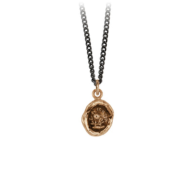 Pyrrha Love Talisman Necklace Medium Curb Chain Bronze