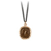 Pyrrha Love Guides Me Talisman Necklace Medium Curb Chain Bronze
